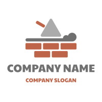 Spatula for Brick Layering Logo Design