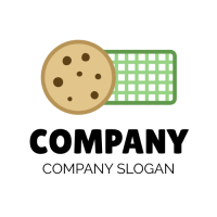 Cookies for Picnic and Green Napkin Logo Design