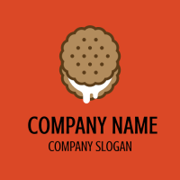 Creamy Round Wafer with Vanilla Logo Design