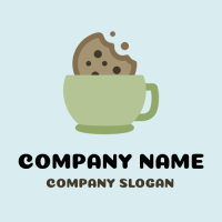 Crunchy Cookie in a Mug Logo Design