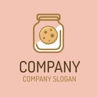 Delicious Biscuit in Glass Jar Logo Design