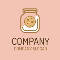 Delicious Biscuit in Glass Jar Logo Design