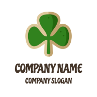 Cookie Logo | Good Luck Clover Green Biscuit