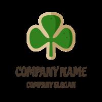 Good Luck Clover Green Biscuit Logo Design