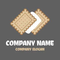 Cookie Logo | Ice Cream Wafers with Vanilla Filling