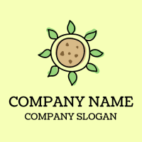 Organic Healthy Vegan Cookie Logo Design