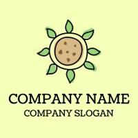 Organic Healthy Vegan Cookie Logo Design