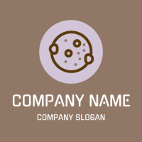 Cookie Logo | Purple Circle with Caramel Biscuit