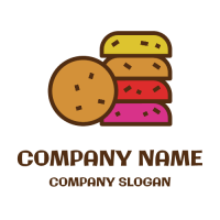 Cookie Logo | Rainbow Butter Biscuit Stuck