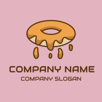 Hot Doughnut with Caramel Filling Logo Design