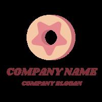 Minimalist Star Glazed Donut Logo Design