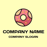 Doughnut Logo | Modern Hot Pink Glazed Donut
