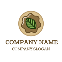 Organic Chocolate Doughnuts Logo Design