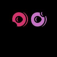Doughnut Logo | Pink and Purple Doughnuts