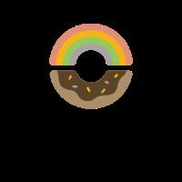 Doughnut Logo | Rainbow Sweet Chocolate Donut