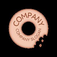 Vintage Emblem Donut Signage Logo Design