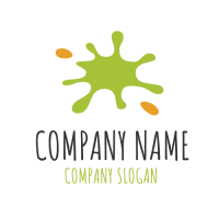 Green and Orange Bright Splash Logo Design