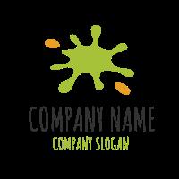 Green and Orange Bright Splash Logo Design