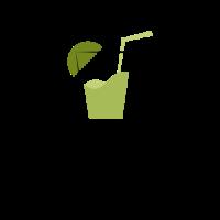 Green Lemonade with Lime Logo Design