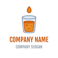 Orange Lemonade with Drop Logo Design