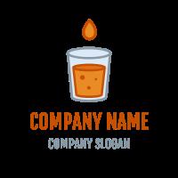 Orange Lemonade with Drop Logo Design