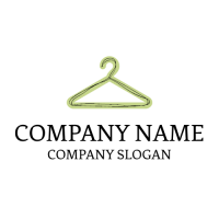 Elegant Green Hanger for Clothes Logo Design