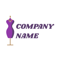 Purple Sewing Mannequin Logo Design