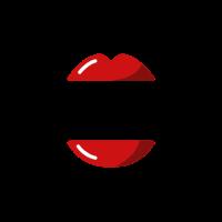 Red Glossy Lipstick Lips Logo Logo Design