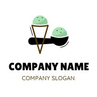 Mint and Chocolate Flavor Logo Design