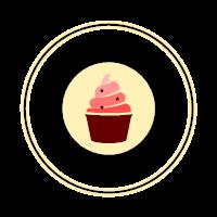 Retro Whipped Dessert Emblem Logo Design