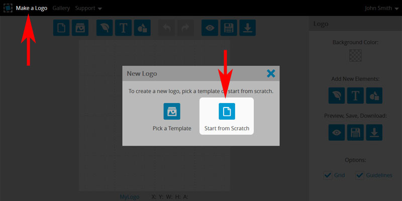 Make a Logo from Scratch