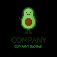 Friendly Smiling Green Avocado Logo Design