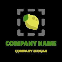 Lemon and Leaf in Frame Logo Design