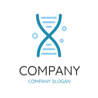 Dna Laboratory with Bubbles Logo Design