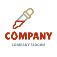 Dropper with a Drop of Blood Logo Design