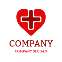 Medical & Pharmaceutical Logo | Red Cross Inside the Heart