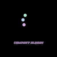 Grand Piano with Three Colors Logo Design