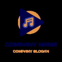 Triangle Music Application Icon Logo Design
