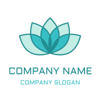 Blue Yoga Lotus for Meditation Logo Design