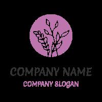 Plants on a Round Background Logo Design