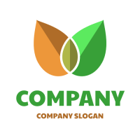 Spring and Autumn Leaves Logo Design