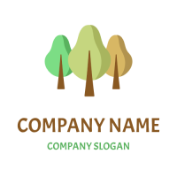 Three Different Seasons Trees Logo Design