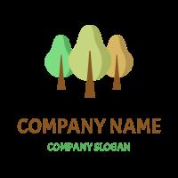 Three Different Seasons Trees Logo Design