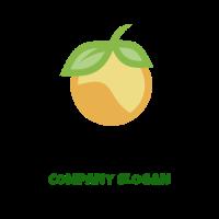 Modern Orange Silhouette Logo Design