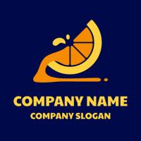 Natural Sweet Orange Fresh Logo Design