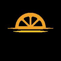 Orange Wedge on the Horizon Logo Design