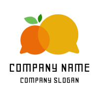 Orange Logo | Two Yellow Speech Bubbles