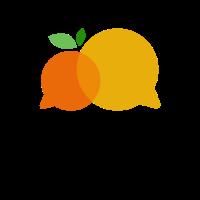 Two Yellow Speech Bubbles Logo Design