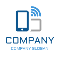 Connection Between Devices Logo Design