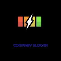 Full Charge with Lightning Logo Design